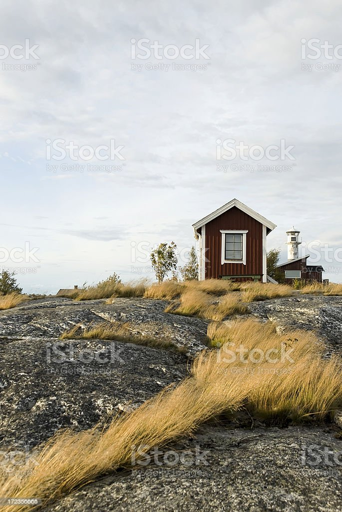 Summer house in sunset royalty-free stock photo