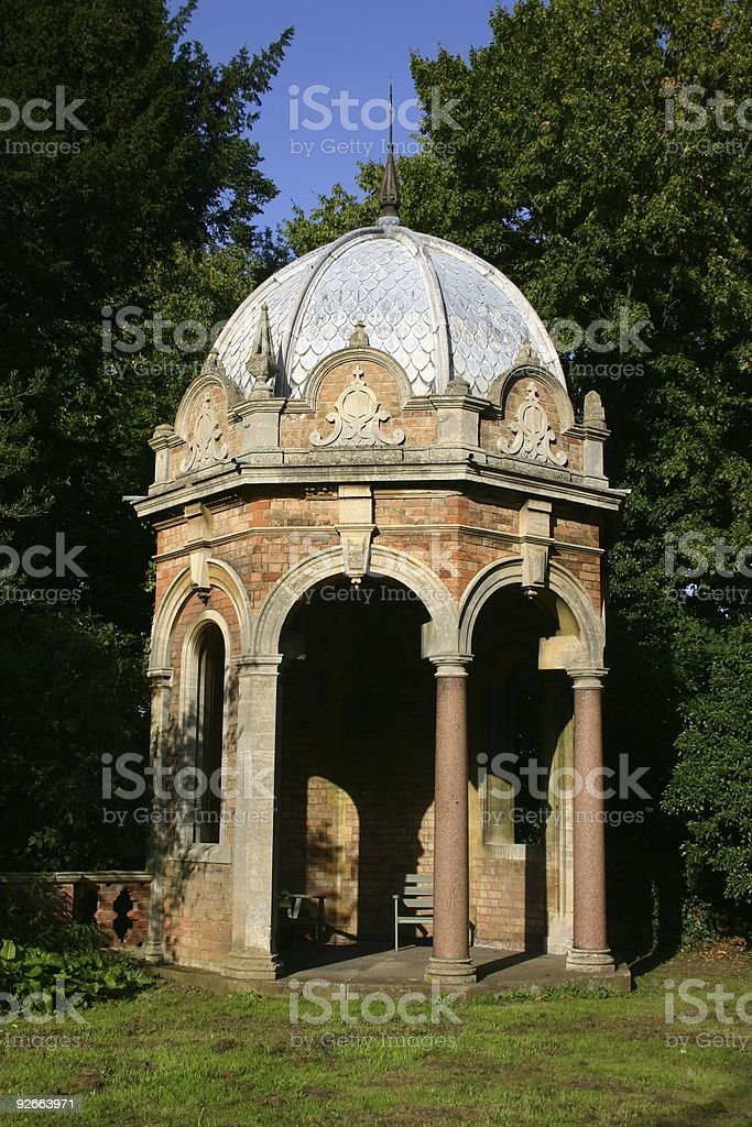 Summer house or garden folly...anyway, it is Georgian royalty-free stock photo