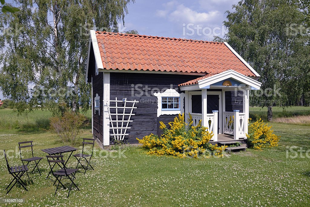 Summer house stock photo
