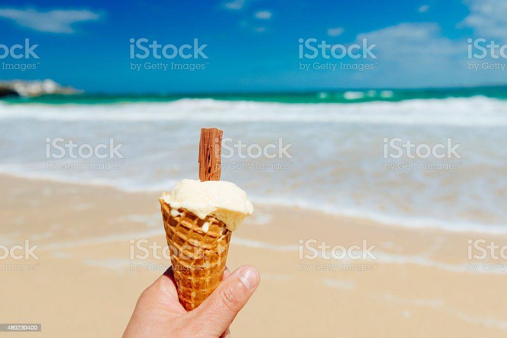 Summer Ice Cream at the Beach stock photo