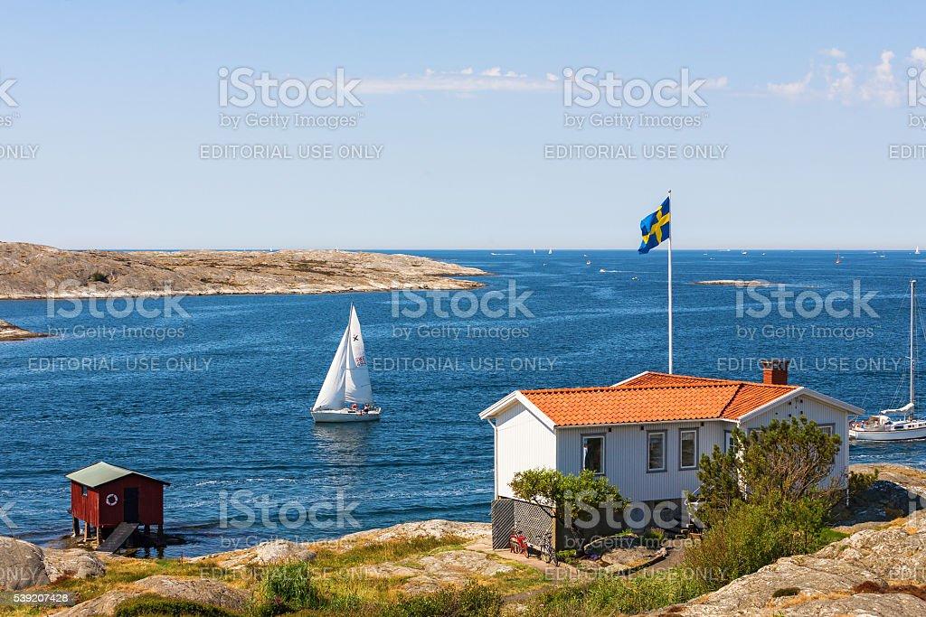Summer Idyll at the Swedish west coast stock photo