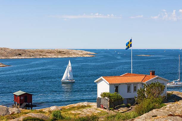 summer idyll at the swedish west coast - bohuslän nature bildbanksfoton och bilder