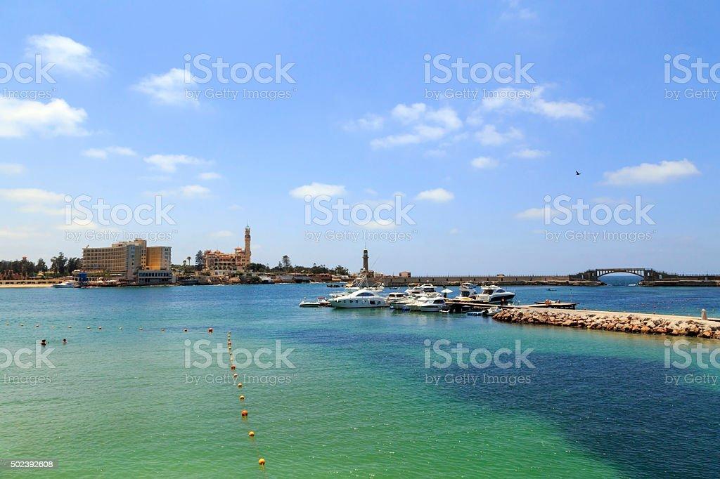 Verão em Alexandria, Egito - foto de acervo