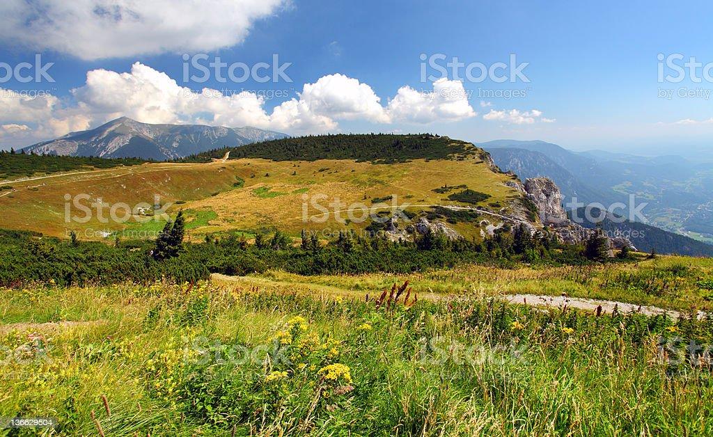 Summer in Austria Raxalpen stock photo