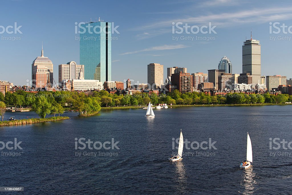 Summer in Boston stock photo