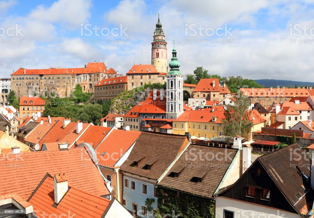 Summer in Cesky Krumlov stock photo