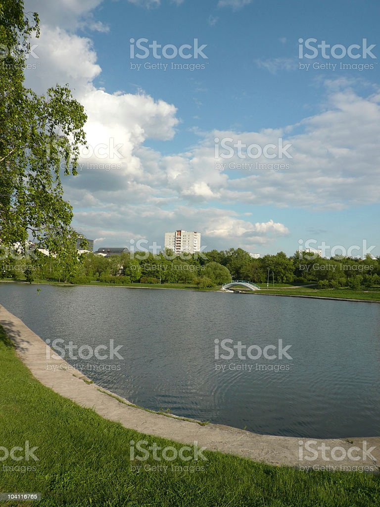 summer in city park at day royalty-free stock photo