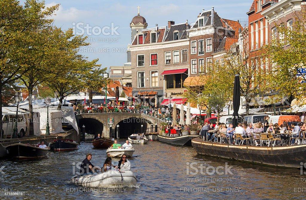 Summer in Leiden, Holland stock photo