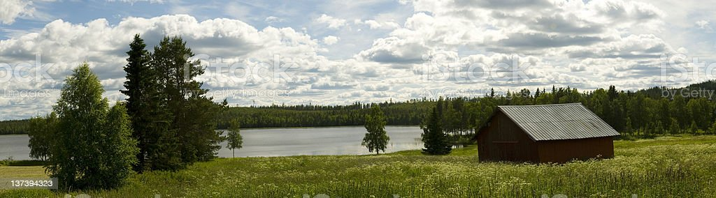 Summer in Norrland stock photo
