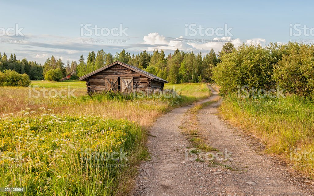 Summer in northern Sweden stock photo