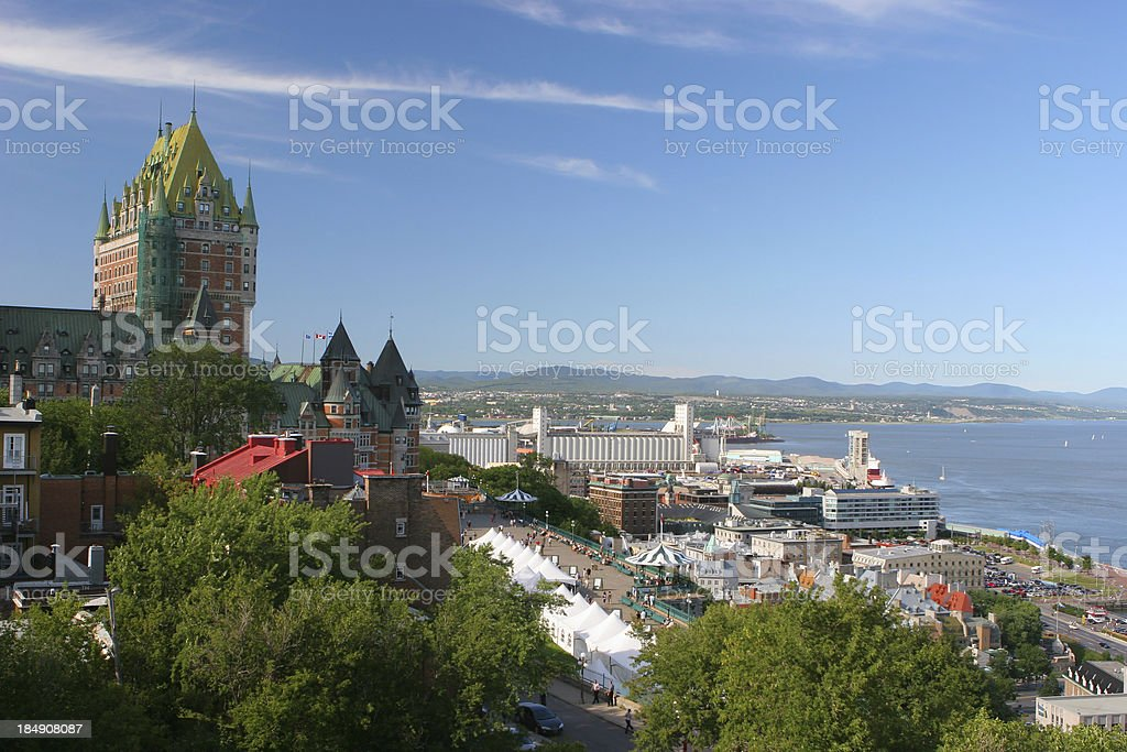 Summer in Quebec city royalty-free stock photo