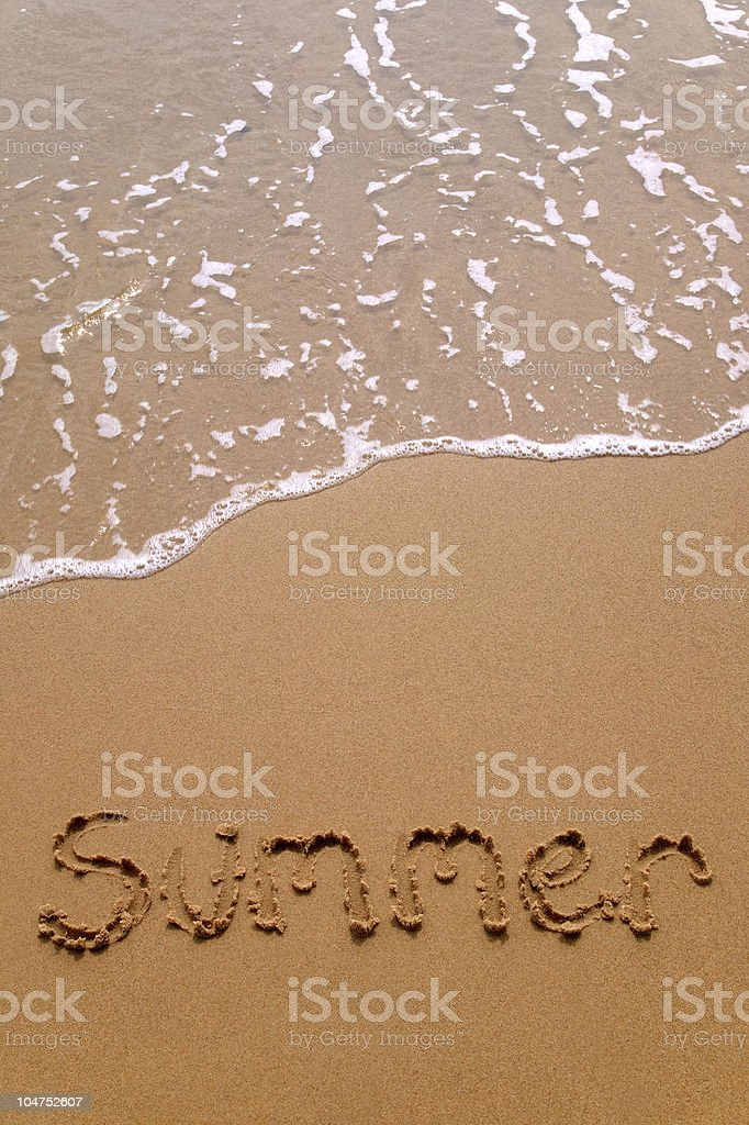 Summer in sand vertical stock photo