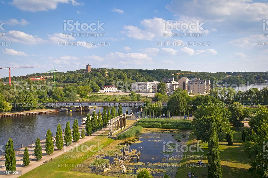 Summer in the City of Potsdam stock photo