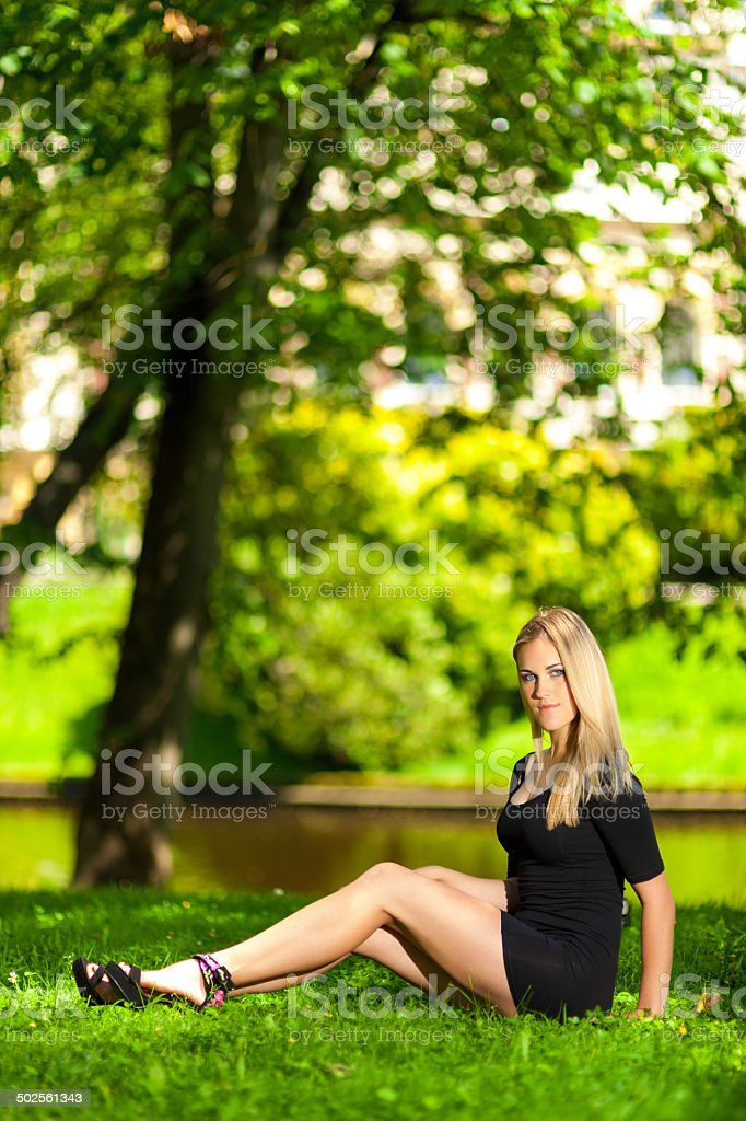 Summer in the city park royalty-free stock photo