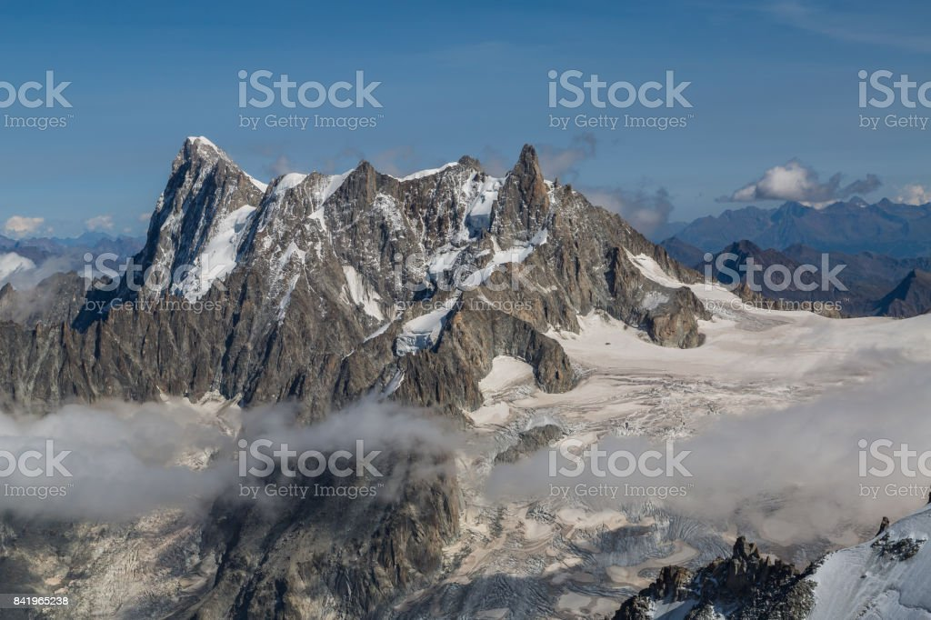 Summer in the European Alps stock photo