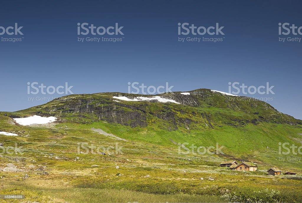 Summer in the high mountains of Jotunheimen in Norway royalty-free stock photo