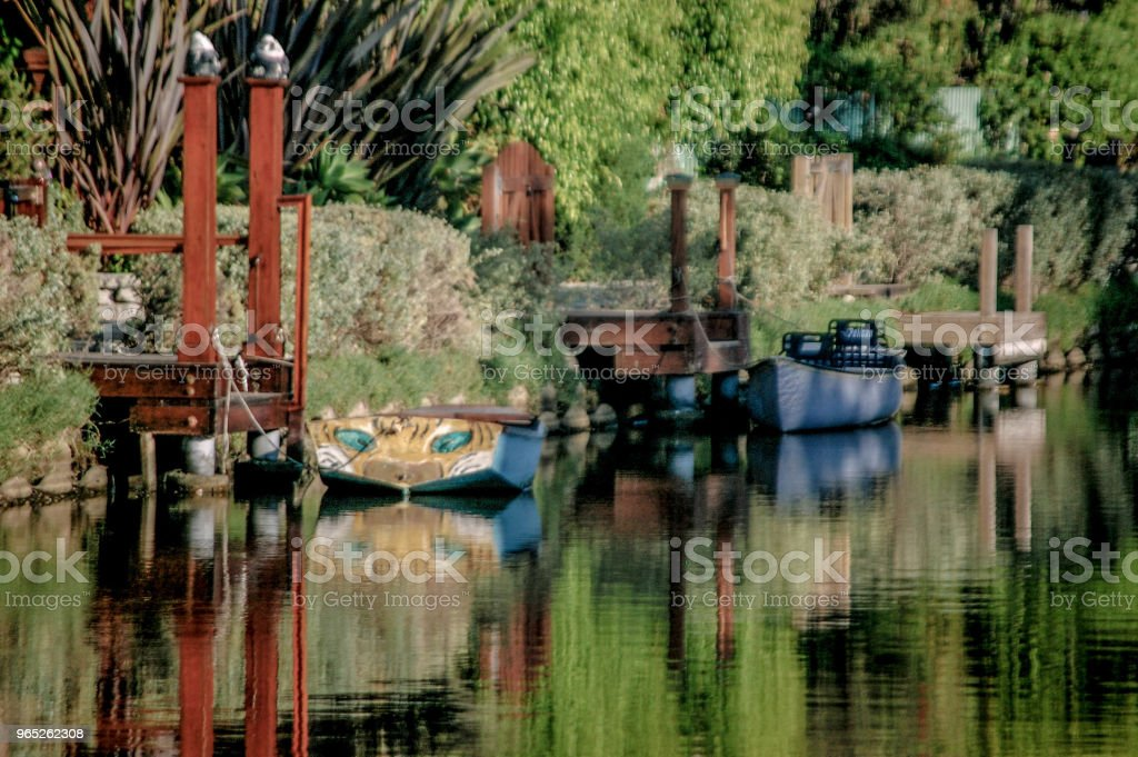 Summer in the Venice Canals royalty-free stock photo