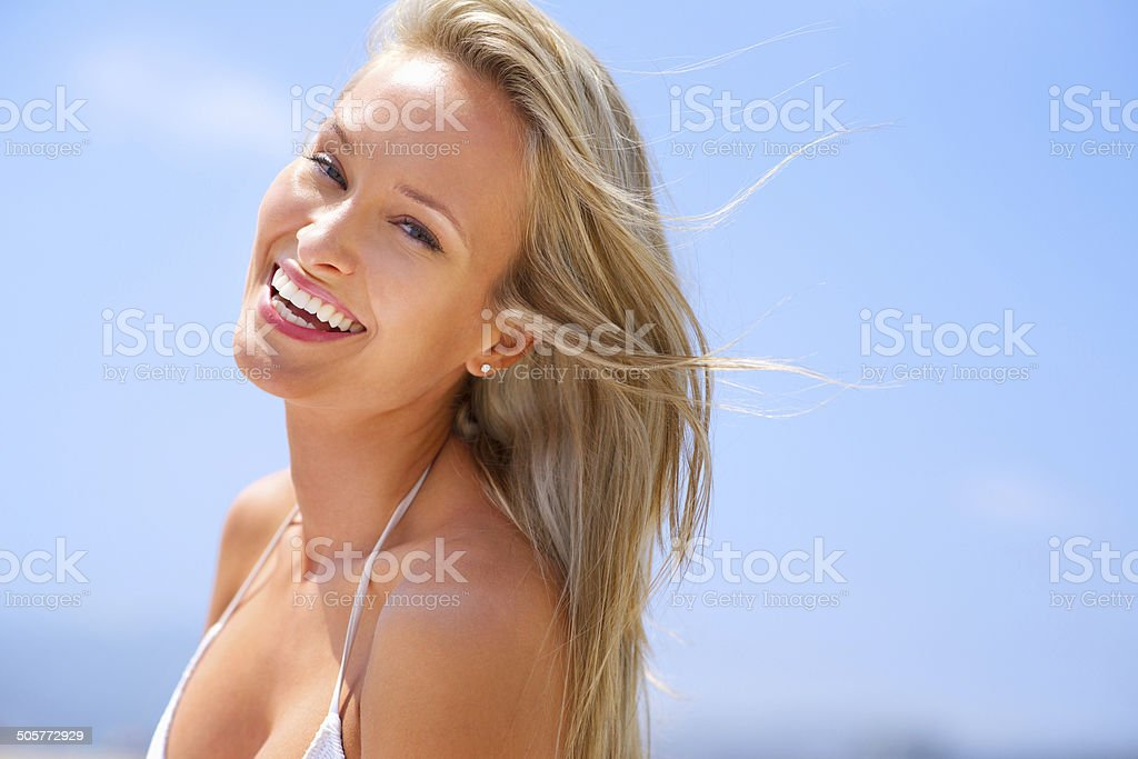 Summer is her favourite season! royalty-free stock photo
