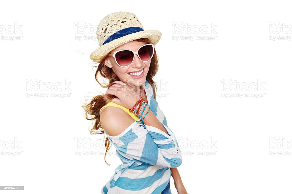 Summer is here! I couldn't be any happier royalty-free stock photo