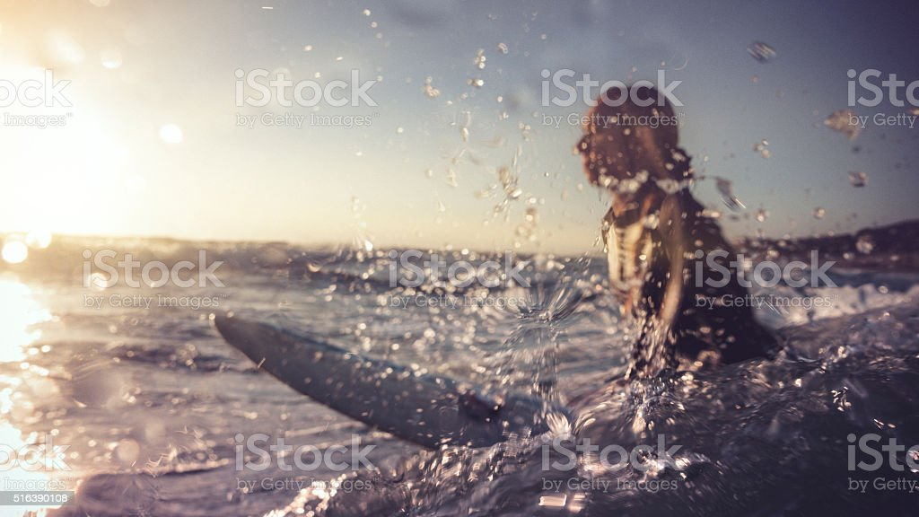 Summer is here: surfer girls in action royalty-free stock photo
