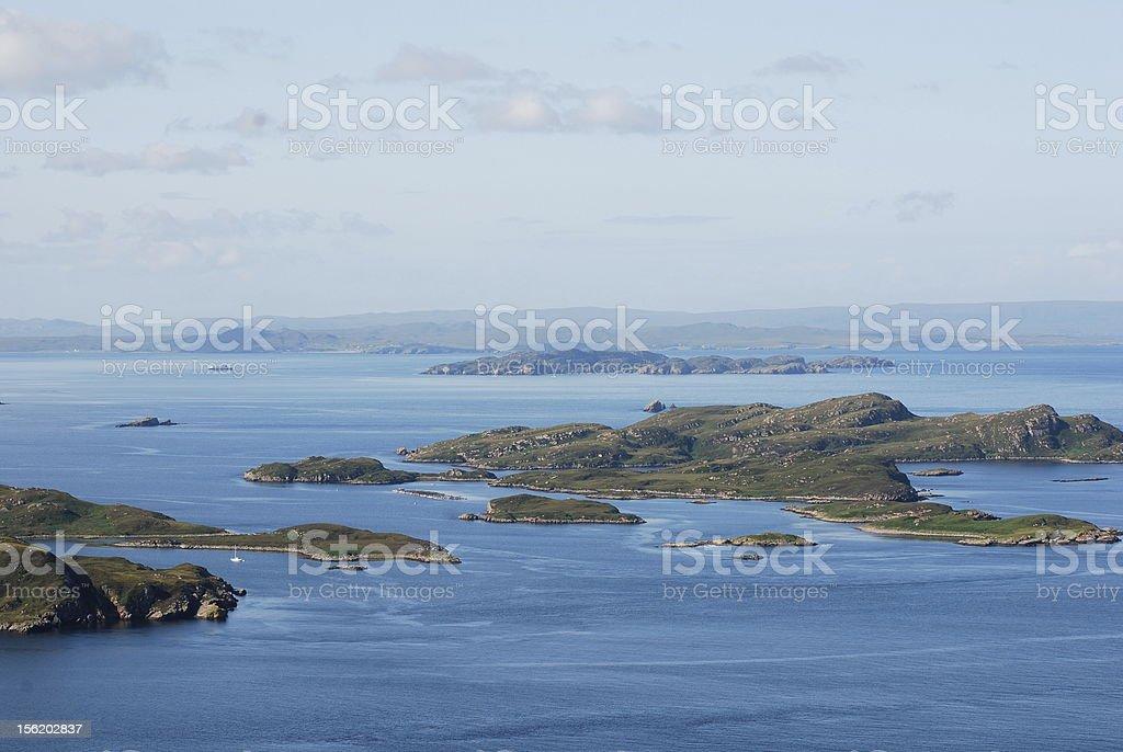 summer isles, scotland view over summer isles, coigach , scotland Achiltibuie Stock Photo