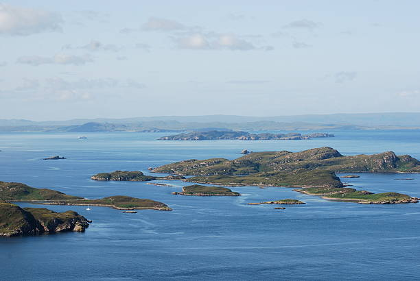 summer isles, scotland stock photo