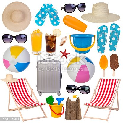 istock Summer items collection 475115984