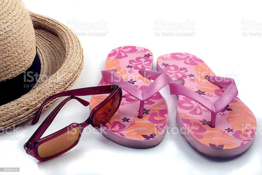 Summer Items royalty-free stock photo