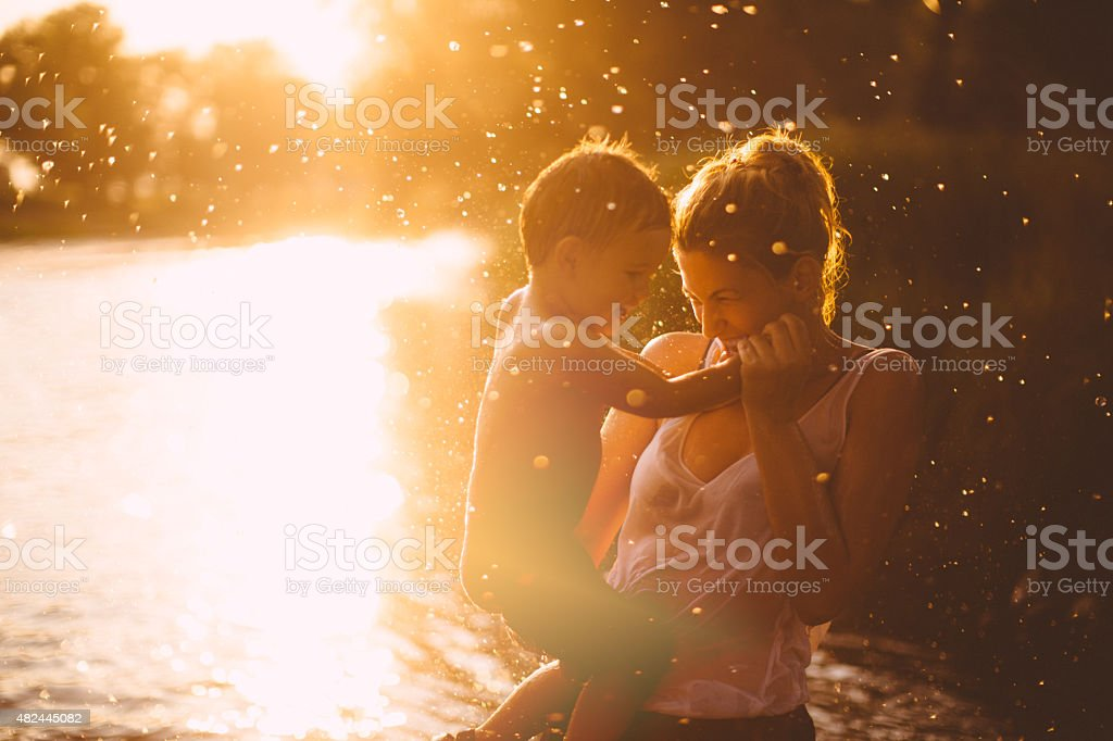 Summer joy stock photo