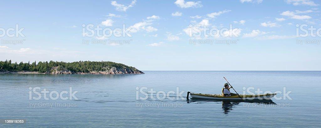 XL summer kayaking royalty-free stock photo