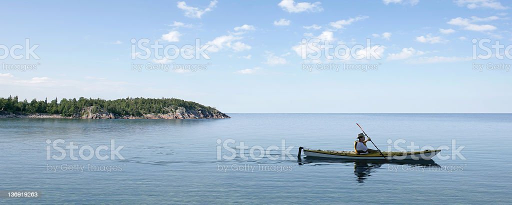 XL summer kayaking stock photo