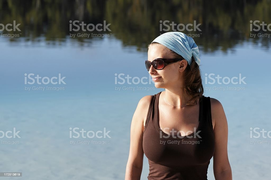 Summer lake beauty royalty-free stock photo