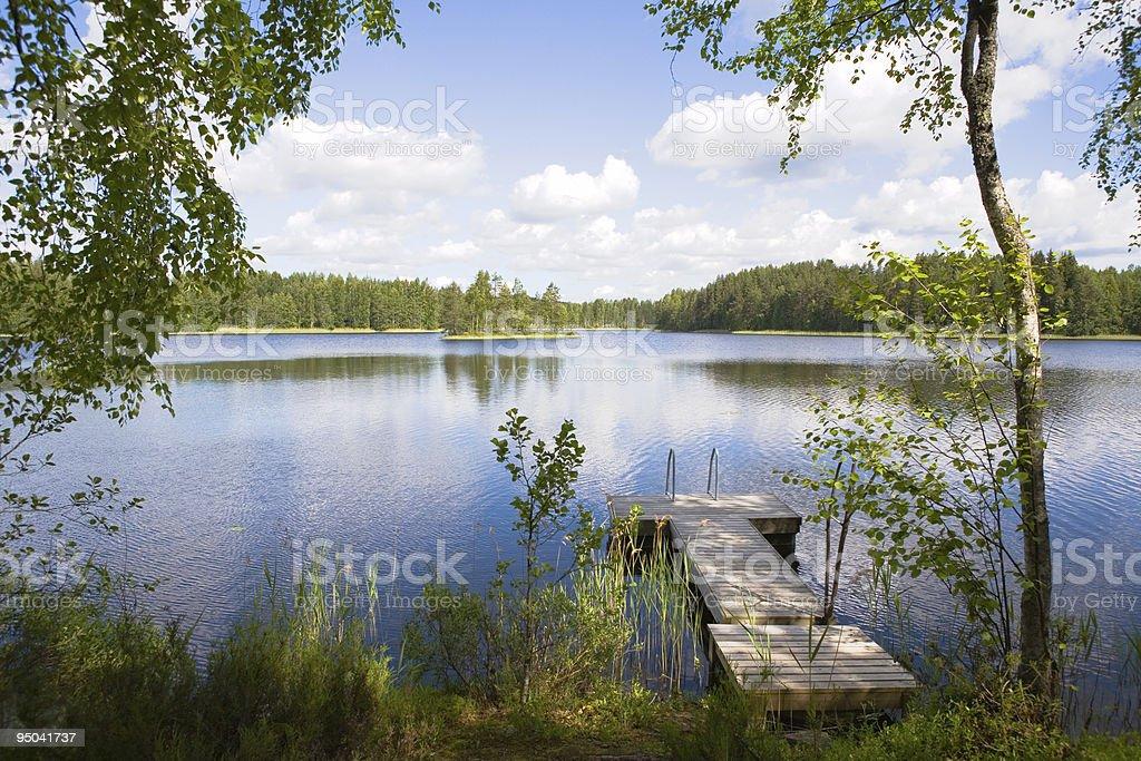 Summer Lake stock photo