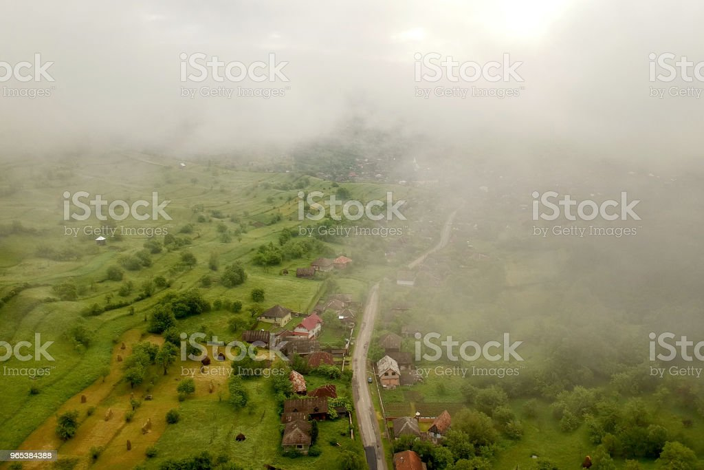 Summer landscape at Ieud, royalty-free stock photo
