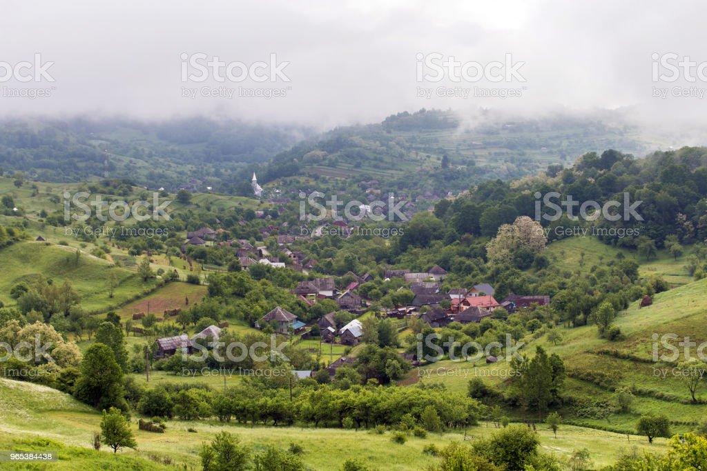 Summer landscape at Ieud, zbiór zdjęć royalty-free
