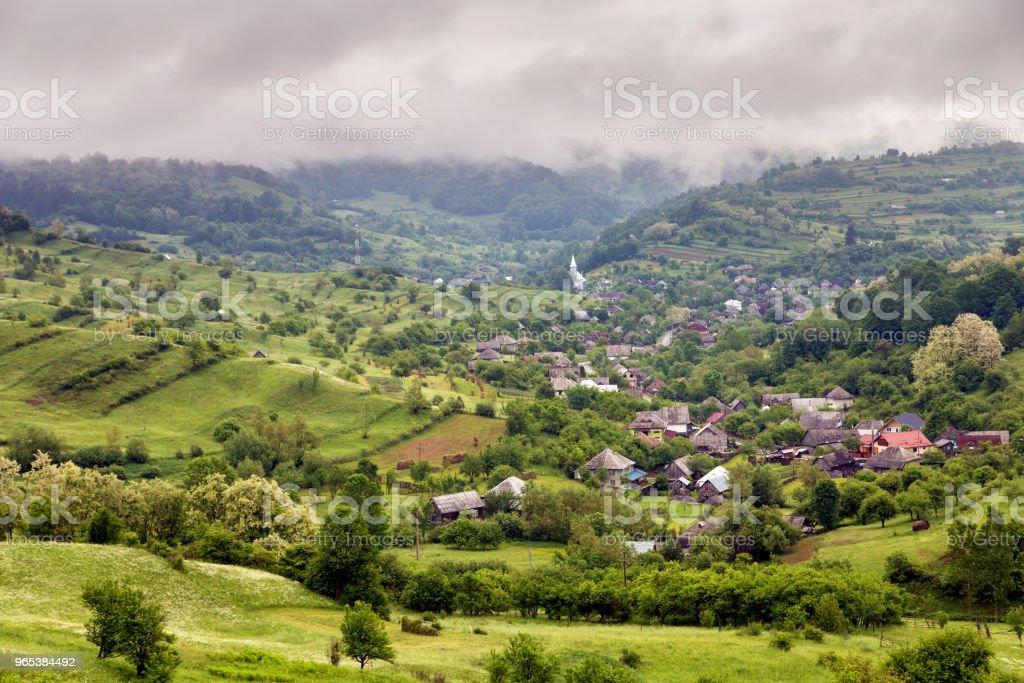 Summer landscape at Ieud, - Zbiór zdjęć royalty-free (Architektura)