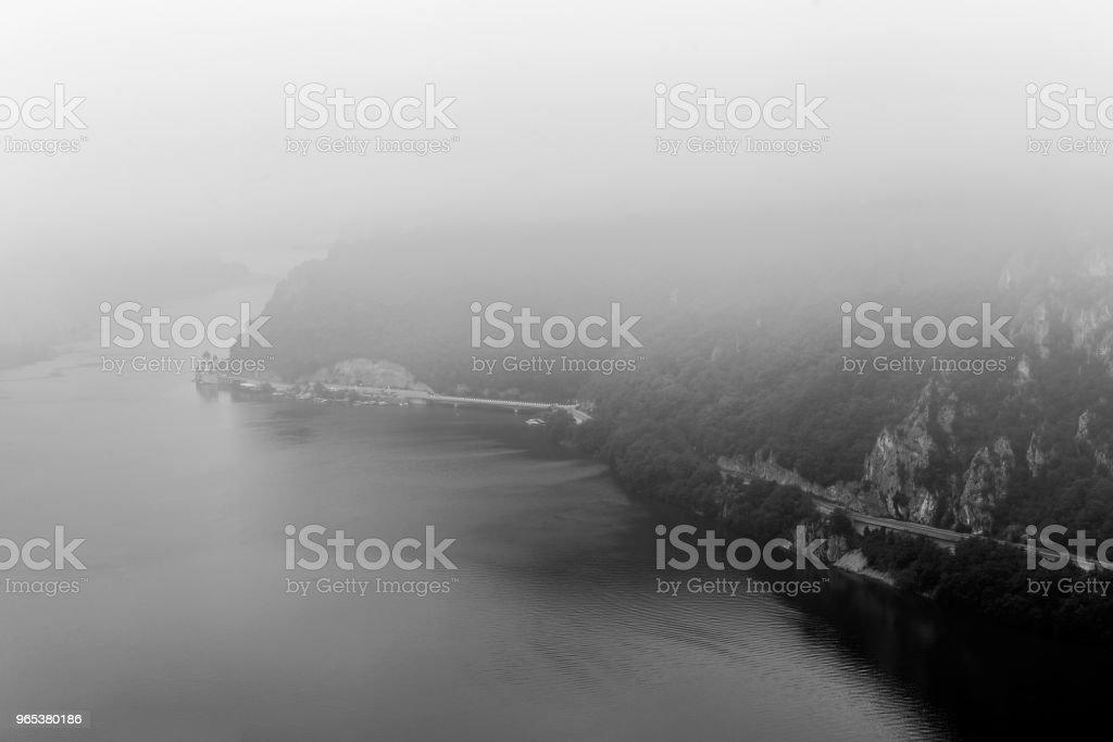 Summer landscape of Danube Gorge, Romania royalty-free stock photo
