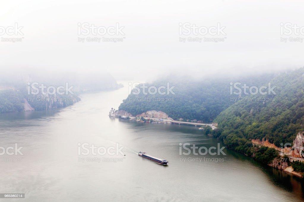 Summer landscape of Danube Gorge, Romania stock photo