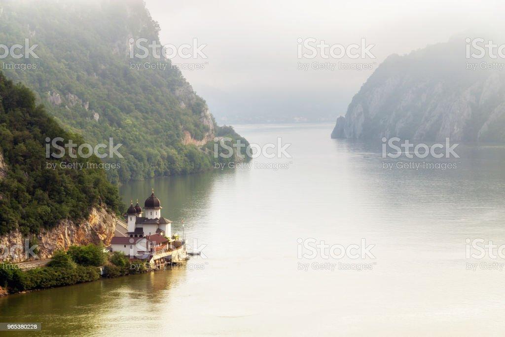 다뉴브 계곡, 루마니아의 여름 풍경 - 로열티 프리 0명 스톡 사진