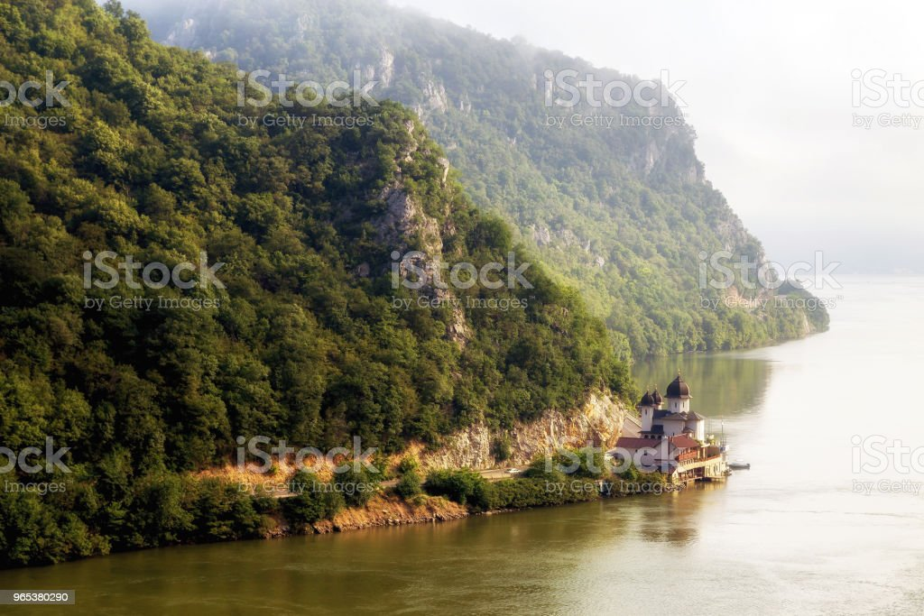 Summer landscape of Danube Gorge, Romania royalty-free stock photo