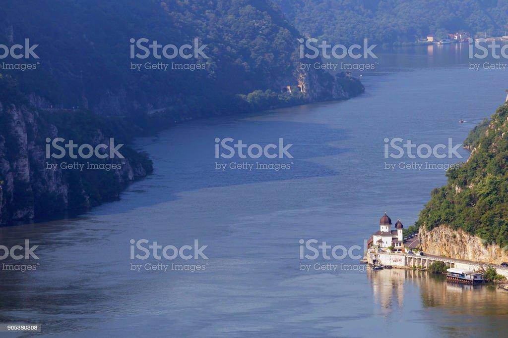 Sommerlandschaft der Donau Schlucht, Rumänien - Lizenzfrei Berg Stock-Foto