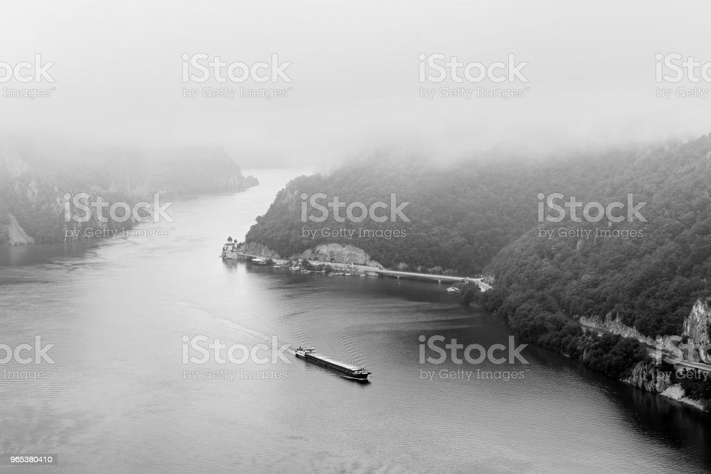 Paysage d'été de la Gorge du Danube, Roumanie - Photo de Brouillard libre de droits