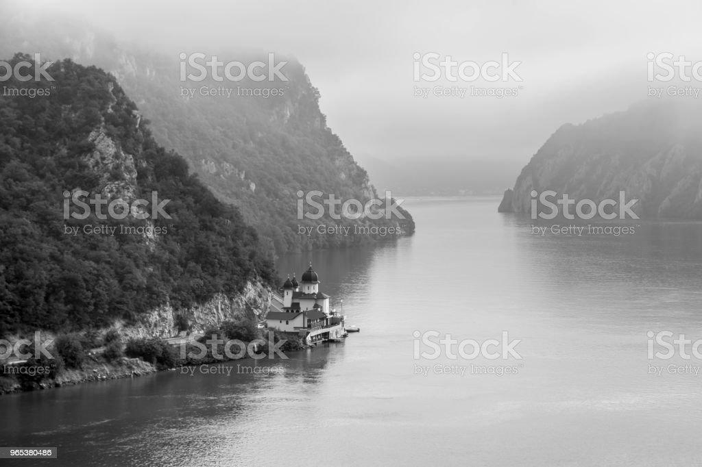 Summer landscape of Danube Gorge, Romania zbiór zdjęć royalty-free