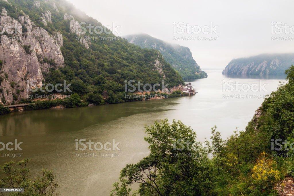 Summer landscape of Danube Gorge, Romania - Zbiór zdjęć royalty-free (Bez ludzi)