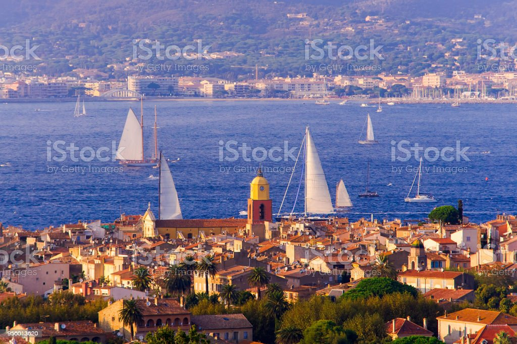 summer landscape of Saint Tropez stock photo