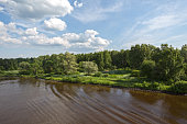 Summer Landscape of the Moscow Canal-Russia