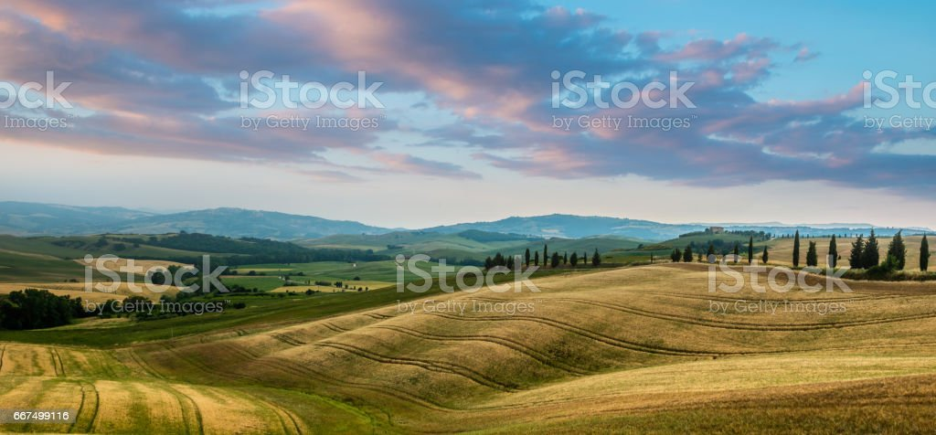 Summer landscape of Tuscany, Italy. foto stock royalty-free