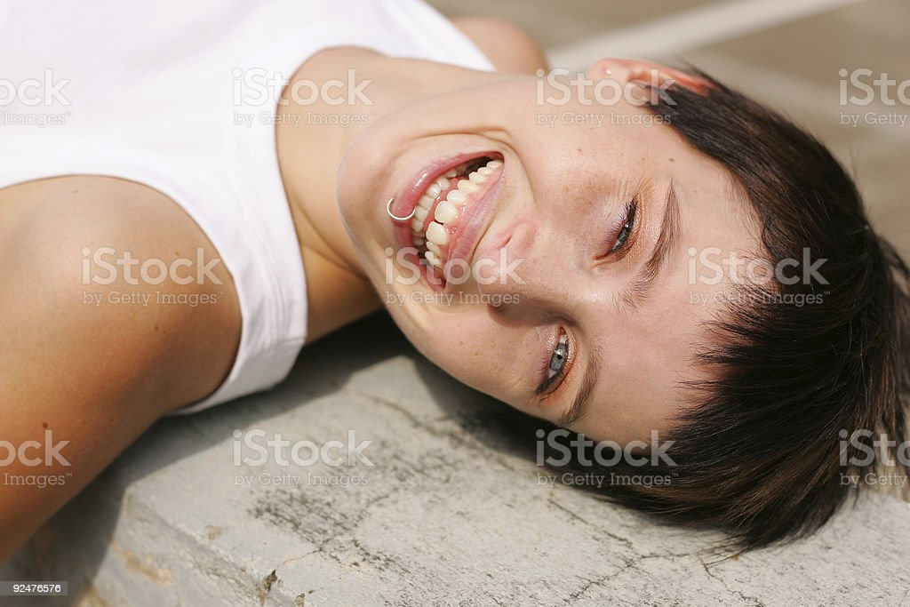 Summer Laughter stock photo