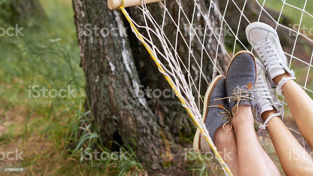 Summer laziness stock photo