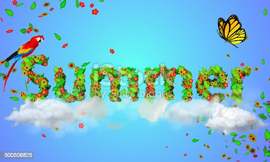 istock Summer leaves particles 3D 500506825